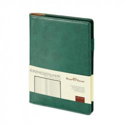 Еженедельник недатированный Bruno Visconti Concept искусственная кожа А5 64 листа зеленый (150x208 мм)