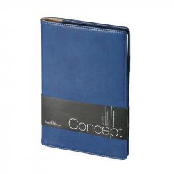 Еженедельник недатированный Bruno Visconti Concept искусственная кожа А5 64 листа синий (150х208 мм)