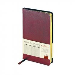 Еженедельник недатированный Bruno Visconti City натуральная кожа А6 80 листов бордовый (87х165 мм)
