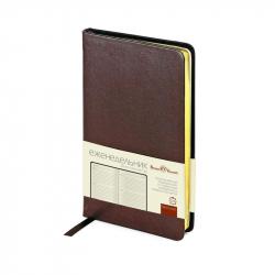 Еженедельник недатированный Bruno Visconti City натуральная кожа А6 80 листов коричневый (87x165 мм)