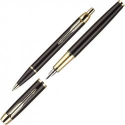 Набор Parker IM Black GT перьевая ручка + шариковая ручка