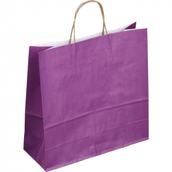 Пакет из крафт-бумаги Сумка Фиолетовая 32x12x32 см