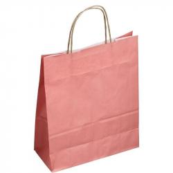Пакет из крафт-бумаги Сумка розовая 25x11x32 см