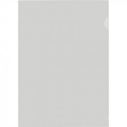 Папка-уголок жесткий пластик белая матовая 180 мкм (10 штук в упаковке)