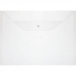 Папка-конверт на кнопке А4 прозрачная 0.1 мм (10 штук в упаковке)
