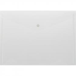 Папка-конверт на кнопке А4 прозрачная 0.18 мм (10 штук в упаковке)