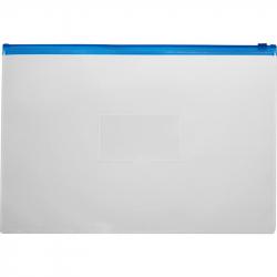 Папка-конверт Attache на молнии А5 прозрачная 0.16 мм