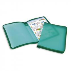 Папка-конверт Attache на молнии А4 зеленая 0.5 мм