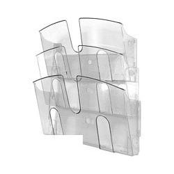 Лоток Uniplast настенный (А4, 3 отделения, прозрачный)