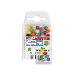 Булавки для пробковых досок Durable (6/15мм, цвет в ассортименте, 50 шт/уп)