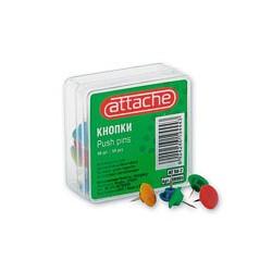 Кнопки пластиковые Attache 50-2 (50 шт./уп., цвет в ассортименте)