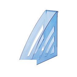 Вертикальный накопитель Attache City, 90мм, прозрачный синий, 2 штуки в упаковке