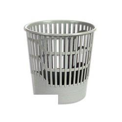 Корзина для бумаг 12л ПиК КСП-10 серая решетчатая