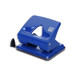 Дырокол Sax 406/02 (на 30 листов, синий)