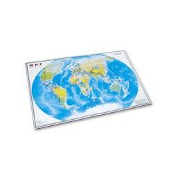 Коврик на стол &laquo-Карта мира&raquo- (380х590мм, цветной, ПВХ)