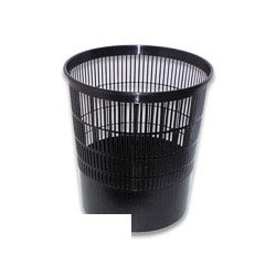 Корзина для бумаг 18л Stamm KP-01 черная решетчатая