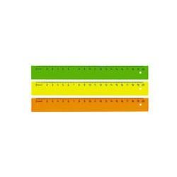 Линейка флюоресцентная Stamm (20см)
