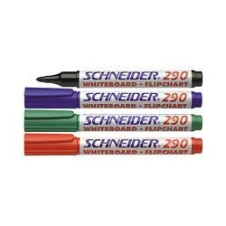 Маркер для досок и флипчартов Schneider S290 (4 штуки в упаковке)