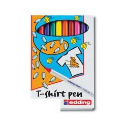 Набор маркеров Edding E-4600 (черный, красный, синий, зелёный, желтый, оранжевый, коричневый)