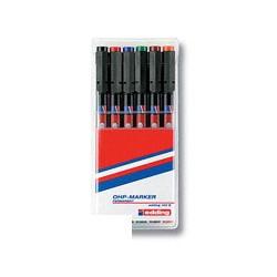 Набор маркеров Edding E-140 (черный, красный, оранжевый, синий, зеленый, коричневый)