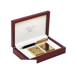 Набор Verdie (ручка + визитница, деревянный футляр)