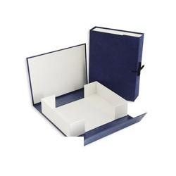 Архивный короб 7см бумвинил, синий