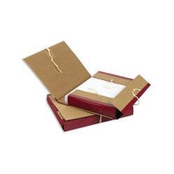 Папка архивная A4 Attache (5см, c 4-мя завязками, крафт/бумвинил)