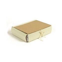 Папка архивная A4 Attache (8см, c 4-мя завязками, крафт/коленкор)