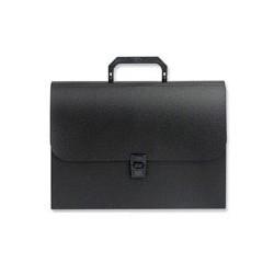 Папка портфель-картотека пластиковая ATTACHE черная 12 отделений