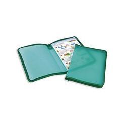 Папка на молнии пластиковая прозрачно зеленая А4
