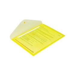 Папка конверт с кнопкой КНК 180 прозрачно-желтая