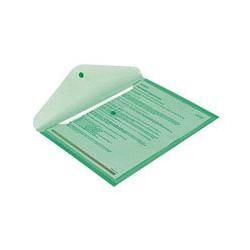 Папка конверт с кнопкой КНК 180 прозрачно-зеленая