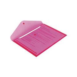 Папка конверт с кнопкой КНК 180 прозрачно-красная