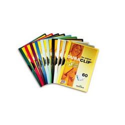 Папка с клипом DURABLE пластиковая на 60 листов ассорти, Германия