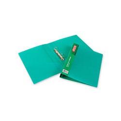 Папка на 2-х кольцах Attache (А4, пластиковая, зеленая),