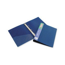 Папка на 4-х кольцах Attache F504/07 (А4, пластиковая, ширина 42 мм, диаметр кольца 35 мм, синяя),