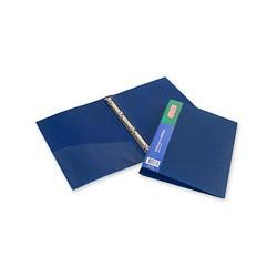 Папка на 4-х кольцах пластиковая ATTACHE 17/32 мм (А4, синяя, Россия),