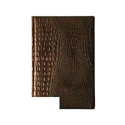Ежедневник полудатированный Bruno Visconti Alligator (А5, 145х216,208л, кожзам, коричневый)