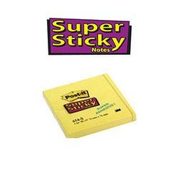 Бумага для заметок 3M Post-it Super Sticky (ярко-желтая, 76х76мм, 90 листов)
