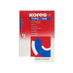 Бумага копировальная синяя KORES 1200 пачка 100л.
