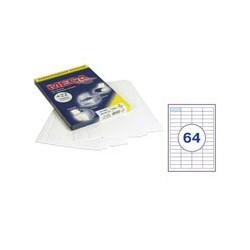 Этикетки MEGA Label (48,5*16,9мм, белые, 64шт. на листе A4, 100 листов)