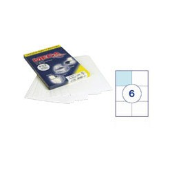 Этикетки MEGA Label (105*99мм, белые, 6шт. на листе A4, 100 листов)
