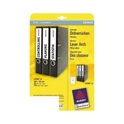 Этикетки для папок-регистраторов Avery Zweckform Z-L4760-25 (A4, 192-38мм, 7 шт. на листе, 25 листов, белые)