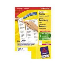Этикетки адресные Avery Zweckform Z-L7160-100 (A4, 63.5 -38.1мм, 21шт. на листе, 100 листов, белые)