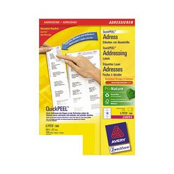 Этикетки адресные Avery Zweckform Z-L7173-100 (A4, 99.1 -57мм, 10шт. на листе, 100 листов, белые)