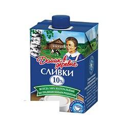 Сливки Домик в Деревне , натуральные, жирность 10%, 200г