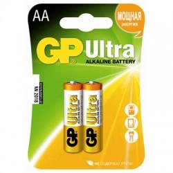 Батарейки GP Ultra AA/316/LR6, 1.5В, алкалиновые, 2 шт. в блистере