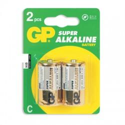 Батарейки GP Super C/343/LR14, 1.5В, алкалиновые, 2 шт. в блистере