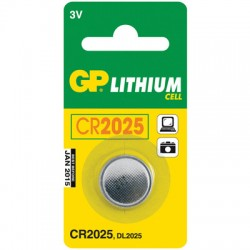 Элементы питания батарейка GP CR2025, 3V, литий, бл/1