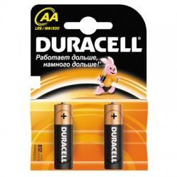 Батарейки Duracell AA/316/LR6, 1.5В, алкалиновые, 2 шт. в блистере